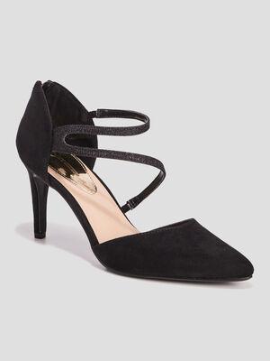 Escarpins zippes noir femme