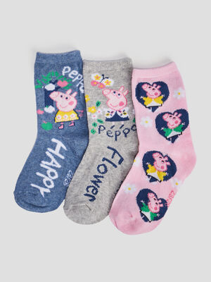 Lot 3 chaussettes Peppa Pig multicolore