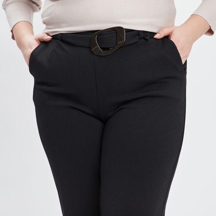 Pantalon large grande taille femme grande taille noir