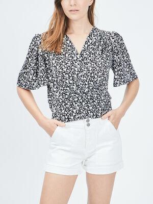 T shirt Liberto noir femme