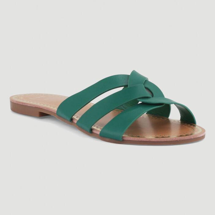 Sandales à entre-doigts femme vert