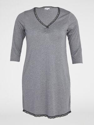 Chemise de nuit gris fonce femmegt