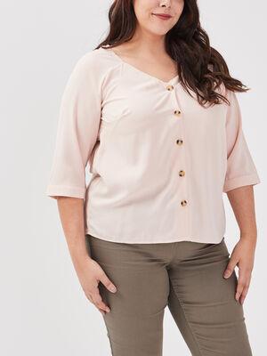 Chemise grande taille rose femme