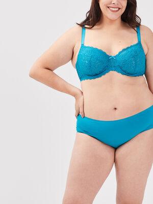 Culotte boxer grande taille bleu canard femme