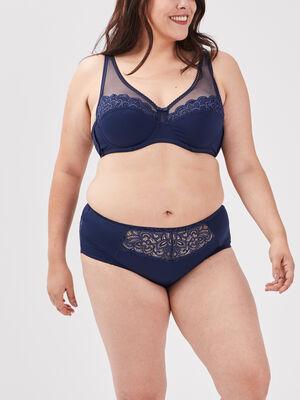 Culotte boxer grande taille bleu marine femme