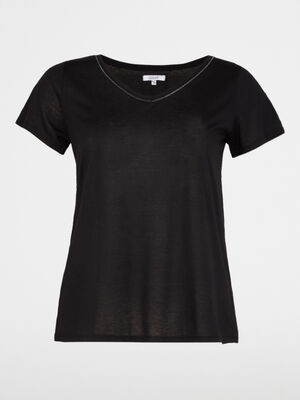 T shirt grande taille noir femme