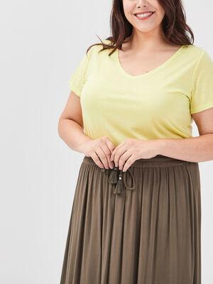 T shirt grande taille vert anis femme