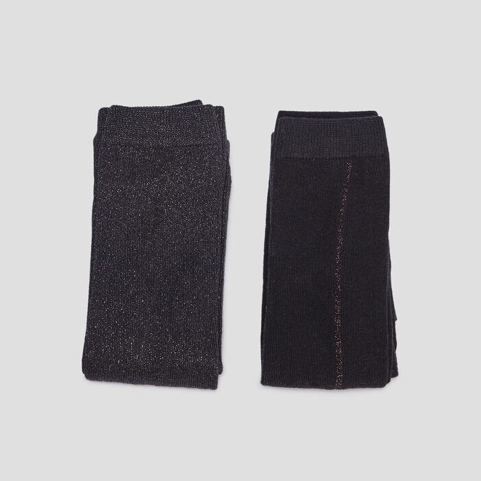 Lot 2 leggings fille noir