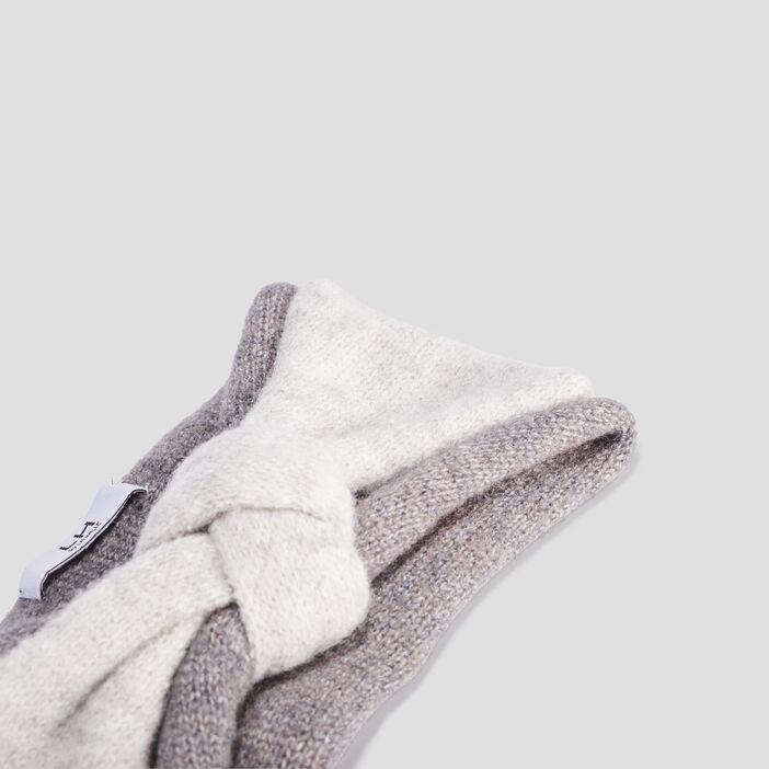 Bandeau tricoté femme gris foncé