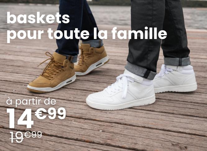 baskets à partir de 14€99